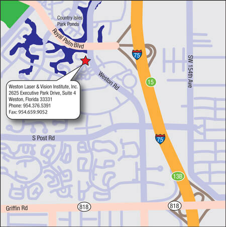 Directions to Pannu Laser & Vision Institute Weston Office